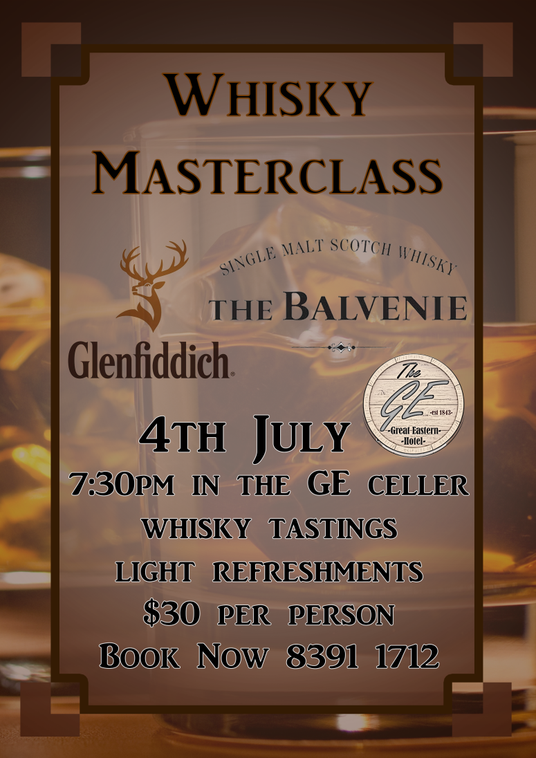 Whiskey Masterclass Glenfidich